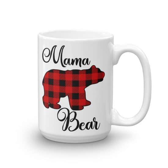 Buffalo Check Mama Bear Mug