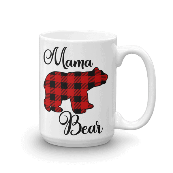 Buffalo Check Mama Bear Mug