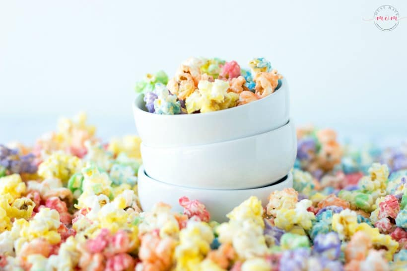 rainbow jello popcorn snack