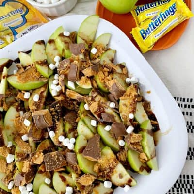 Butterfinger Caramel Apple Nachos Recipe