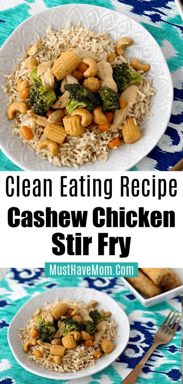clean eating cashew chicken