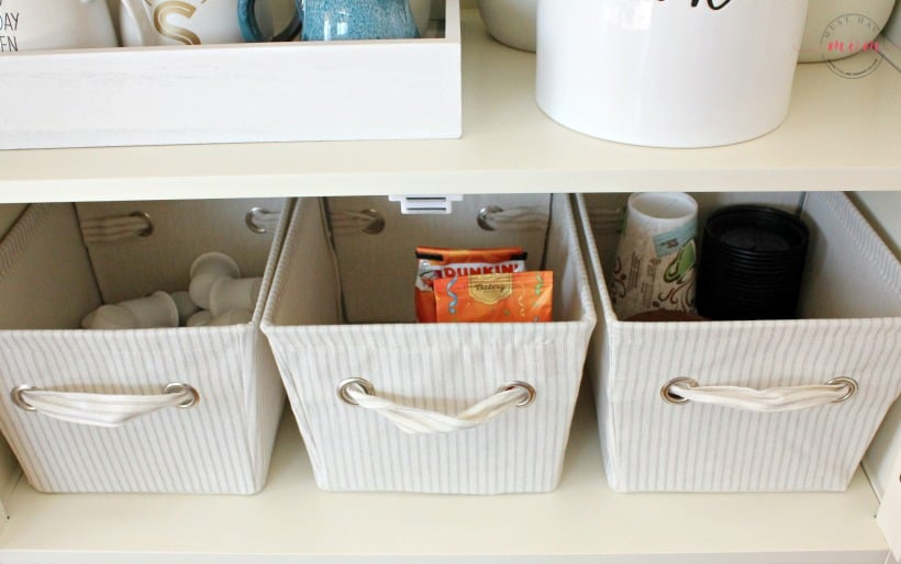 coffee bar baskets