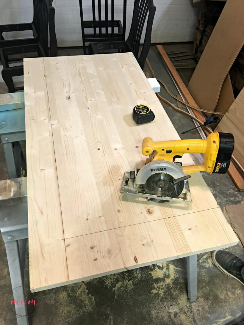 cutting diy wood countertops