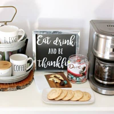 Farmhouse Coffee Bar + DOVE® Caramel Snickerdoodle Cookies