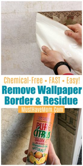 wallpaper border and sticky residue