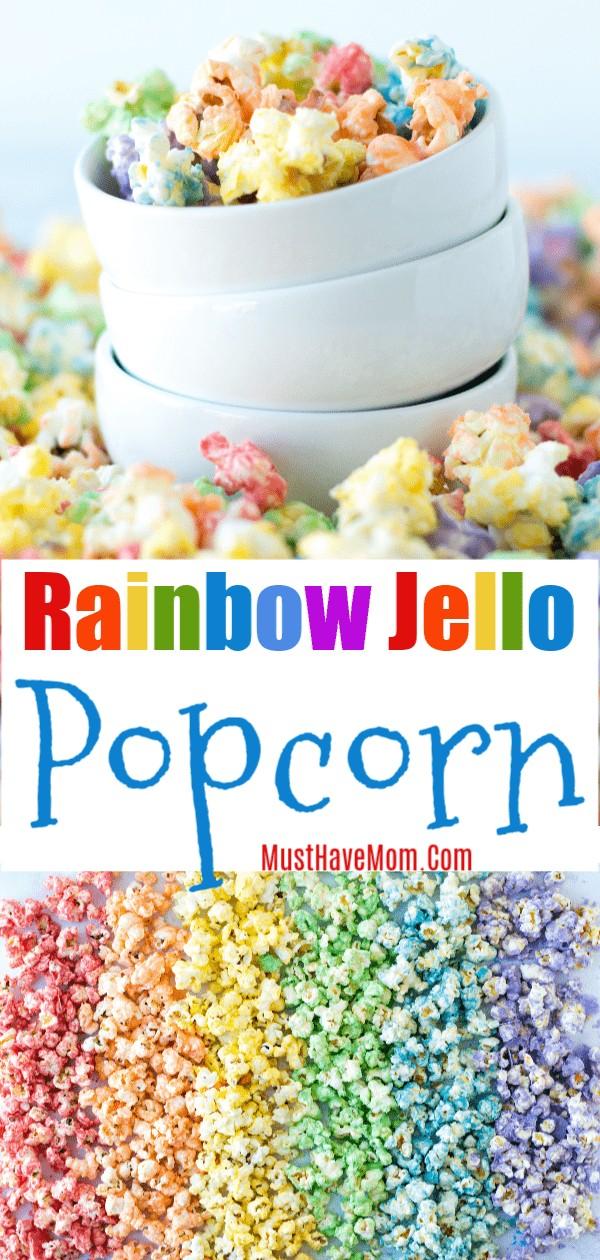 rainbow jello popcorn recipe
