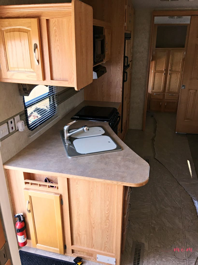 RV kitchen counters makeover before