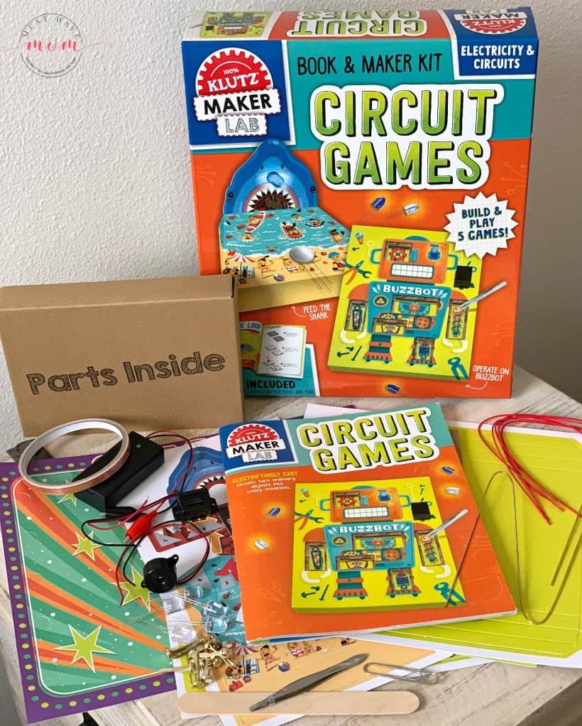 Klutz Maker Lab Circuit Games contents