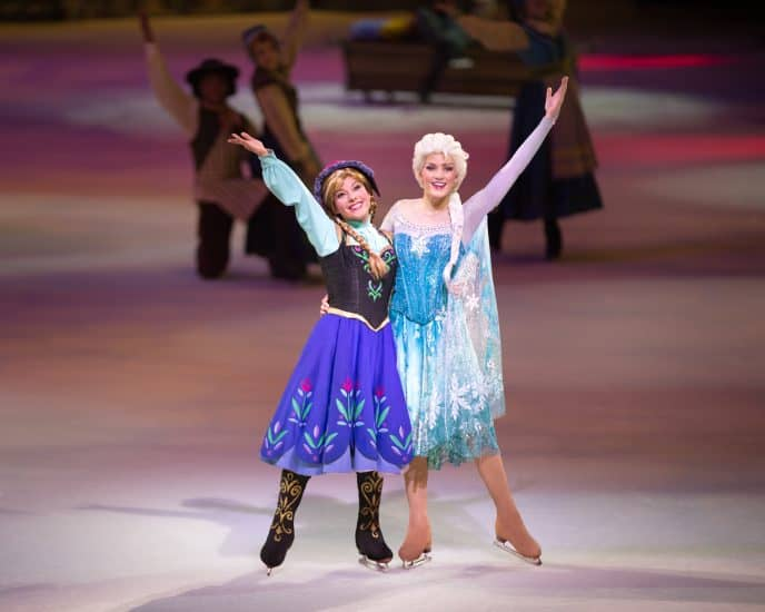Anna and Elsa Disney on Ice