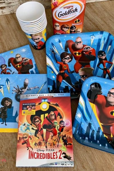 Incredibles 2 party supplies