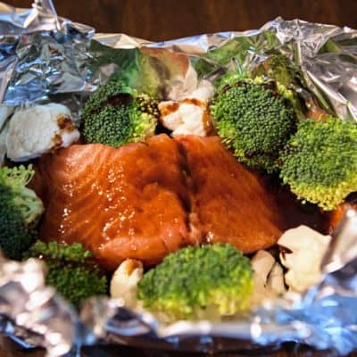 asian salmon foil packets