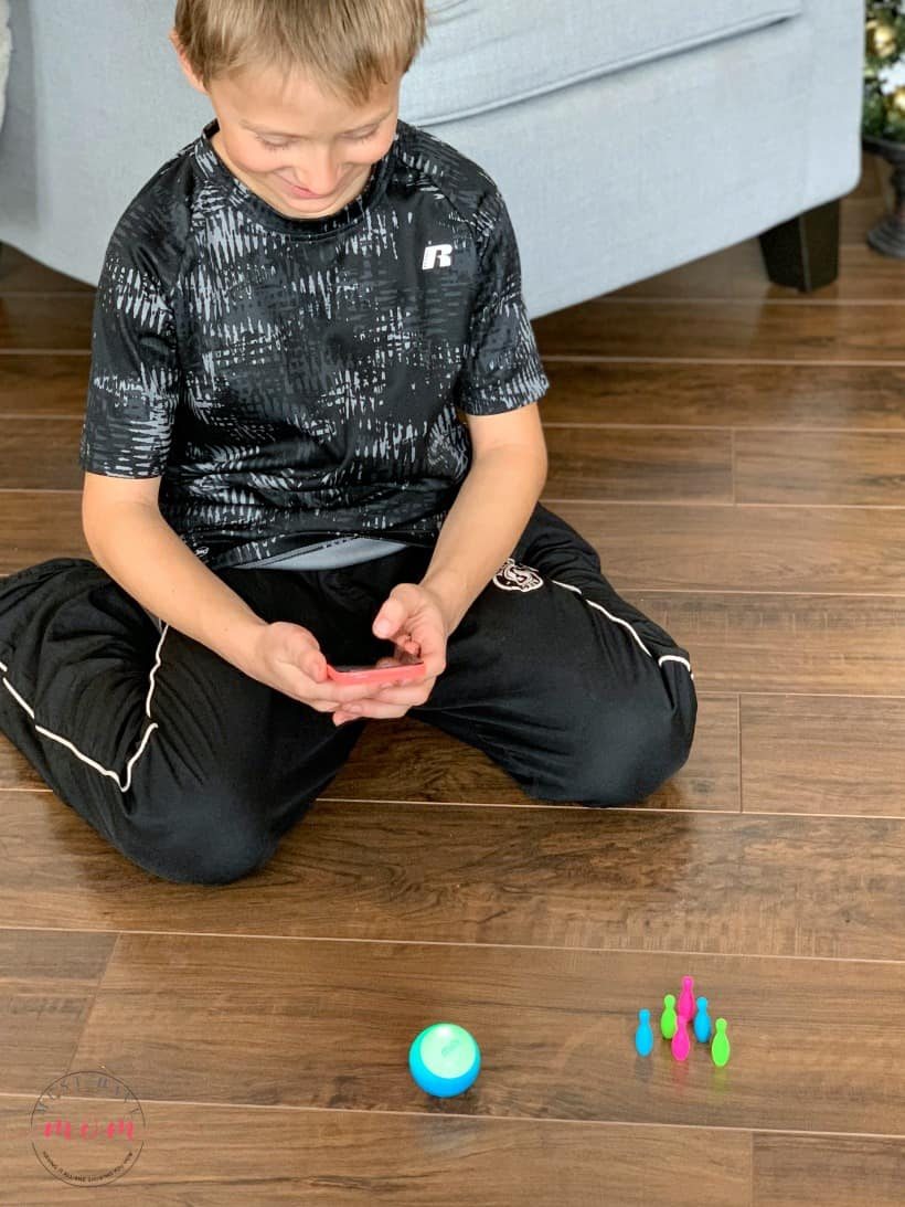 sphero mini with bowling pins