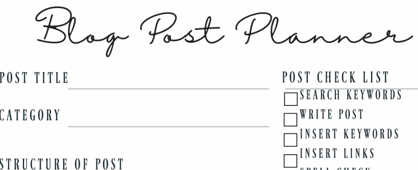 Get this free printable blog planner that is designed to help everyone from the new to seasoned blogger. Track your goals, get more organized and more.
