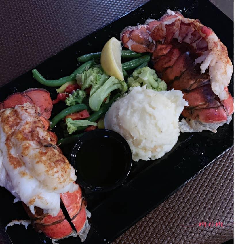 lobster tails at SpeakEasy