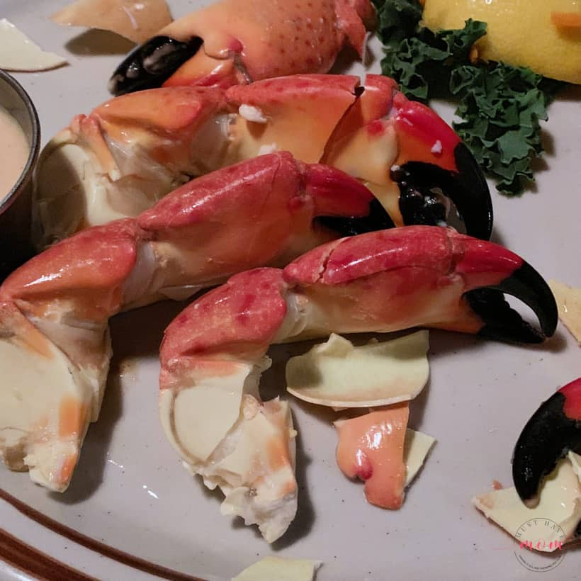 Stone crab at little bar