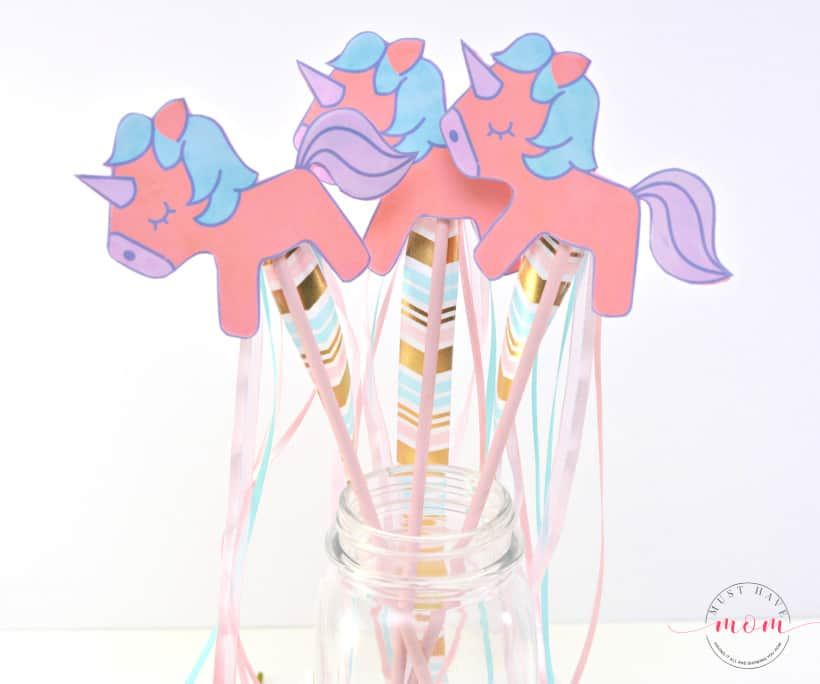 DIY Unicorn Craft With Free Unicorn Printable - Must Have Mom