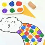 rainbow painting activity
