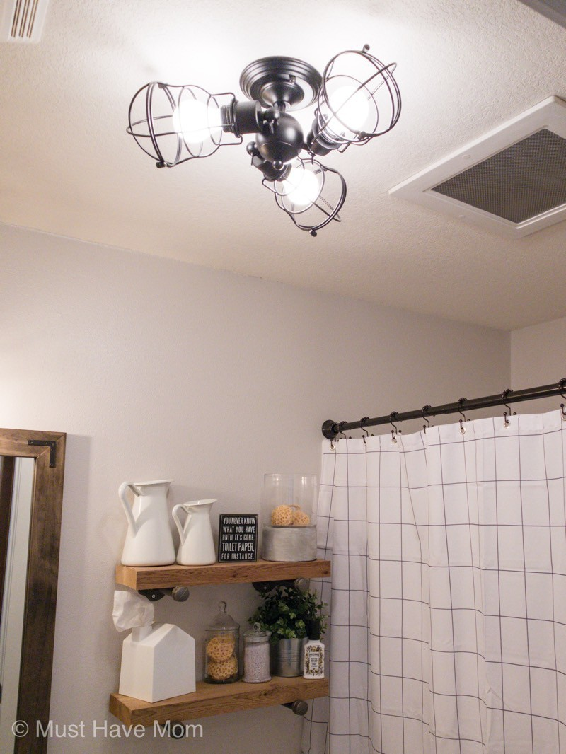industrial style light fixture