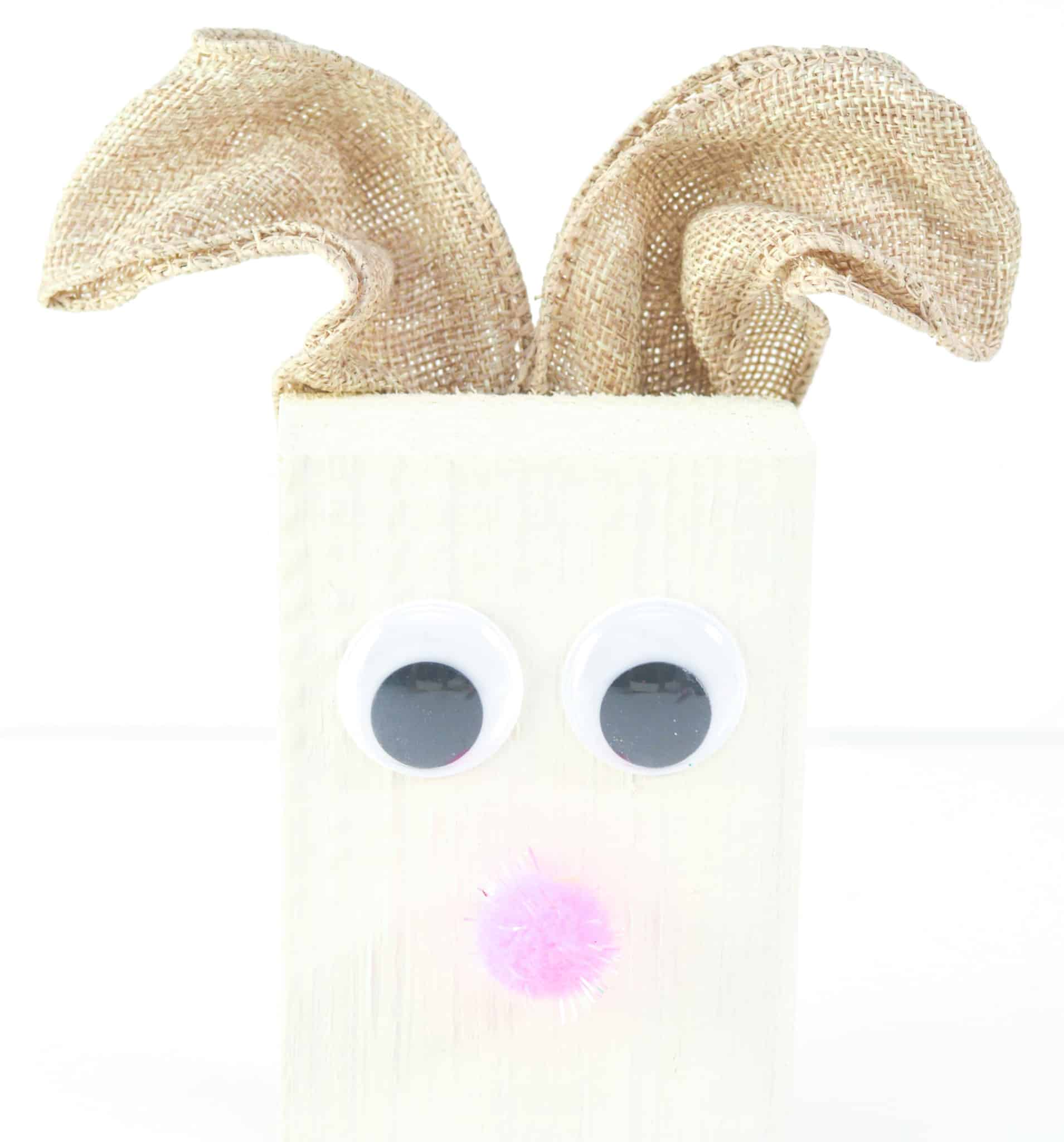 Easter bunny wood block kids craft