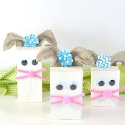 Easter Crafts For Kids | Wood Block Easter Bunny