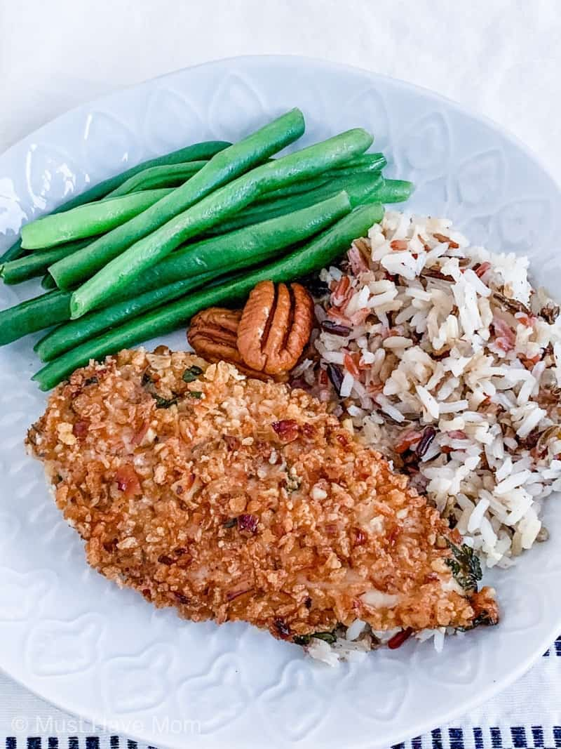 pecan crusted chicken sides