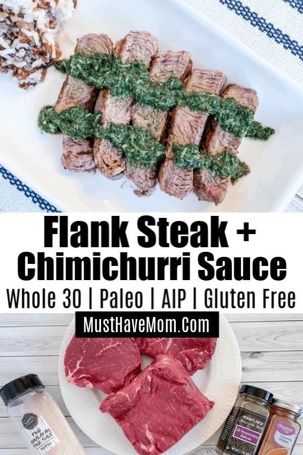 clean eating recipe steak and chimichurri