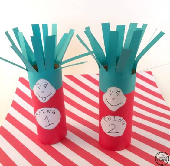 thing 1 and thing 2 toilet paper craft
