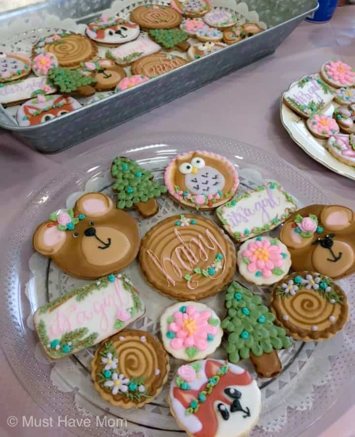 woodland themed cookies