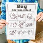 Bug Scavenger Hunt For Kids with Free Printable!
