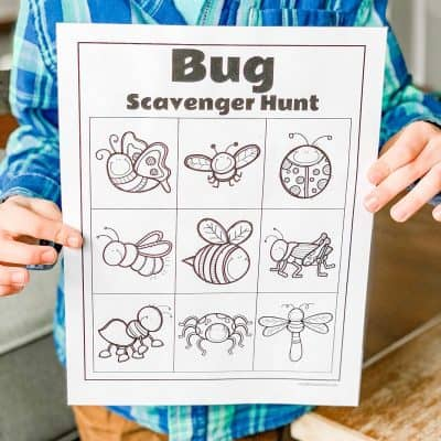 bug scavenger hunt printable