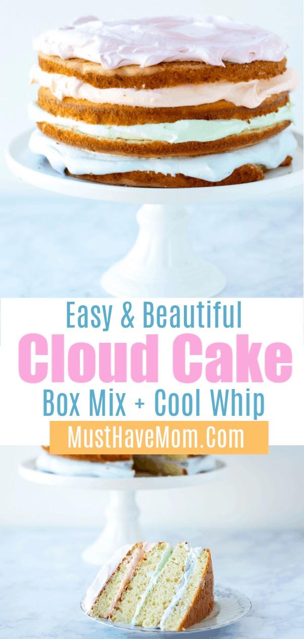 rainbow jello cloud cake