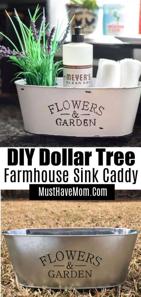 dollar tree sink caddy diy