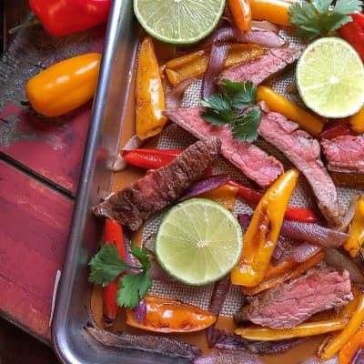 Sheet Pan Fajitas | Steak Fajita Recipe