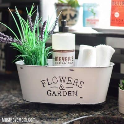 DIY Farmhouse Sink Caddy | Dollar Tree Crafts
