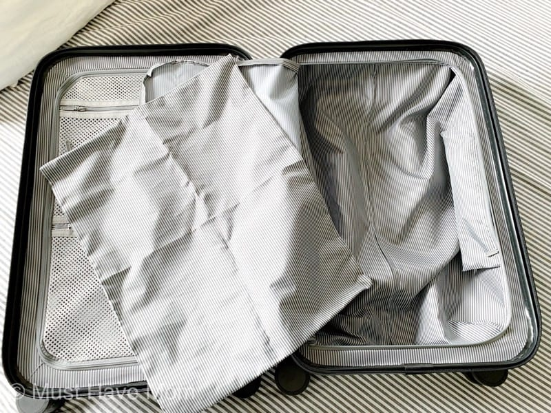 Laundry bag in luggage
