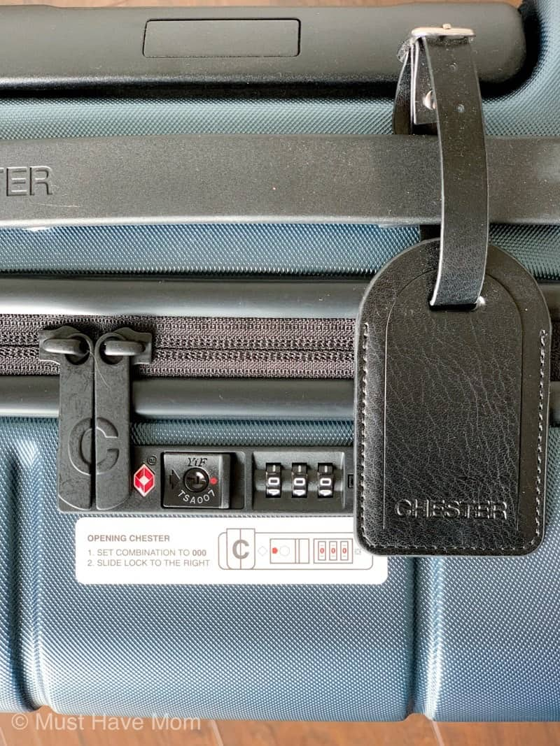 Chester carry on luggage lock