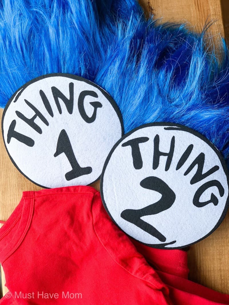 diy thing 1 and thing 2 costume supplies