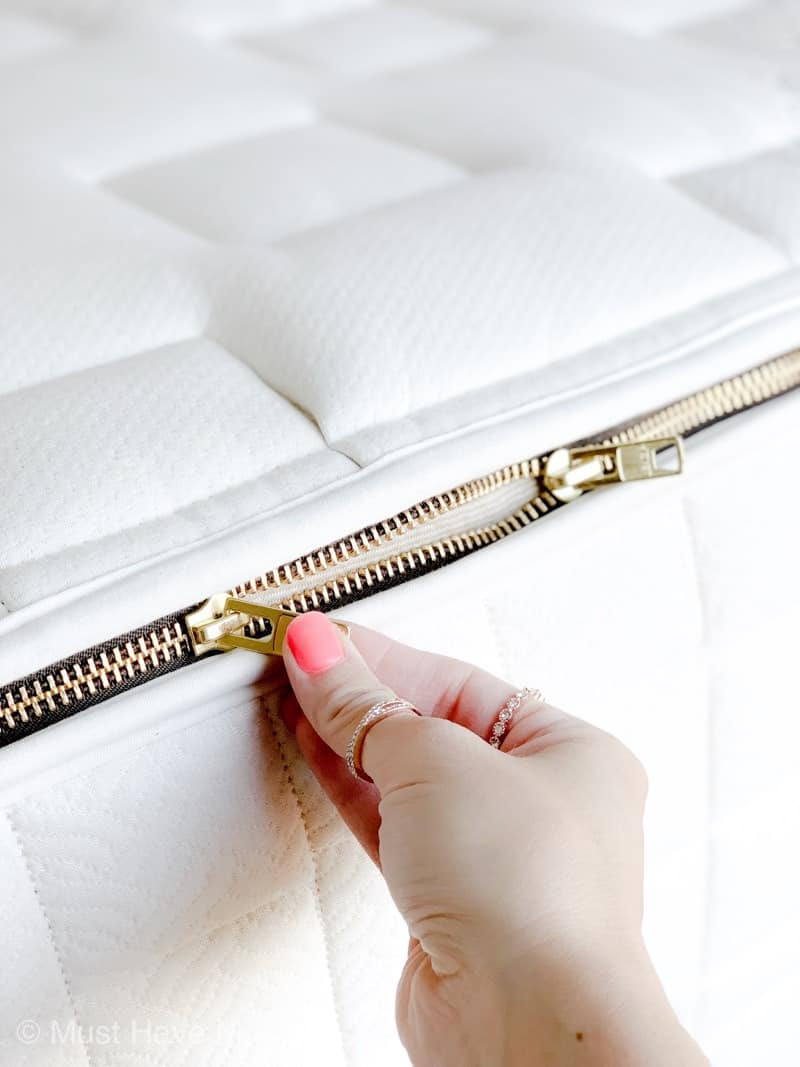 naturepedic mattress zipper