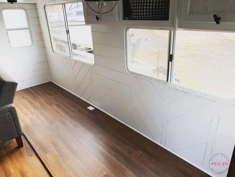 RV shiplap wall