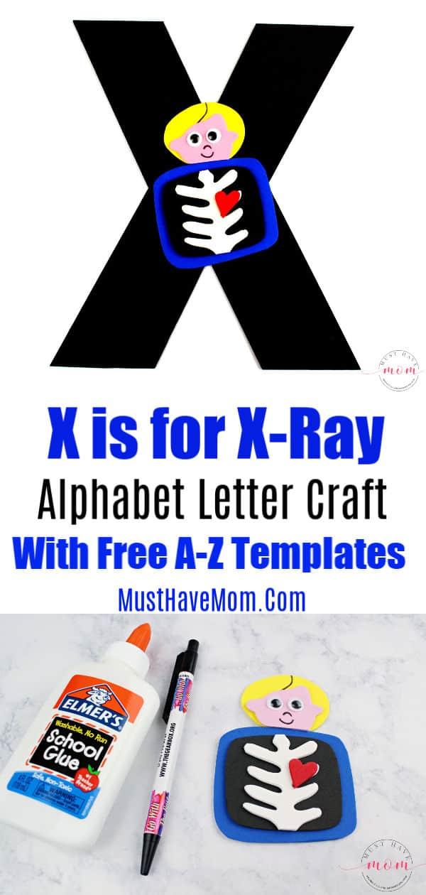 Alphabet letter X Craft