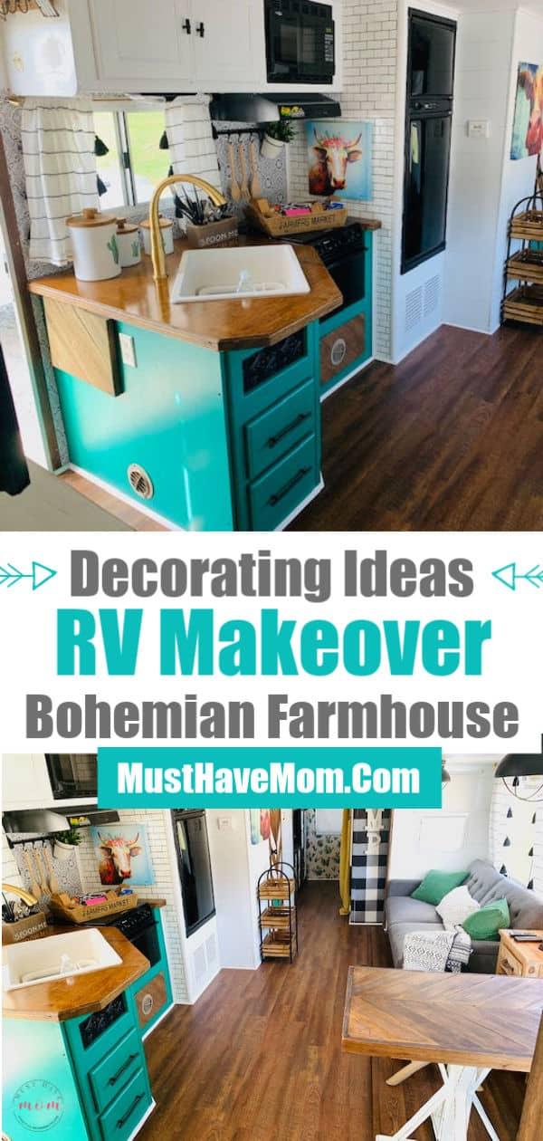Bohemian farmhouse RV remodel