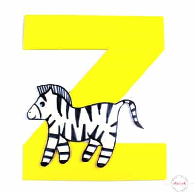 Letter Craft – Z is for Zebra
