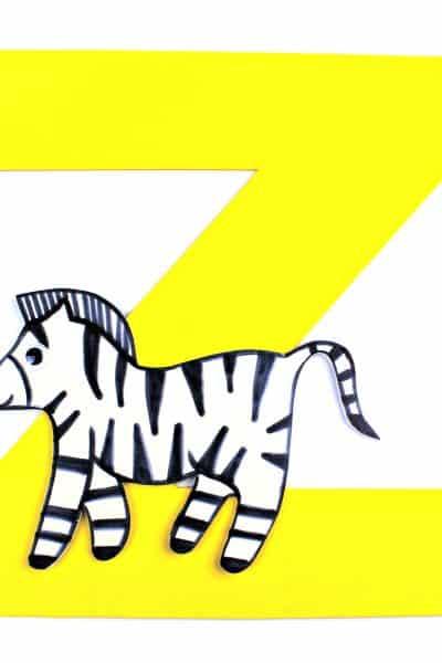 letter Z is for Zebra foam letter craft