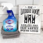 DIY Laundry Sign + Laundry Tips