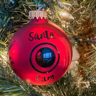 DIY Santa Cam Ornament