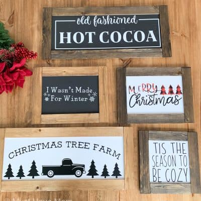 Dollar Store Farmhouse Signs DIY