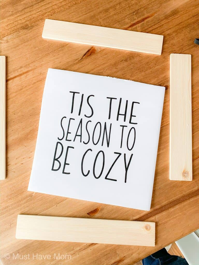 DIY tis the season to be cozy rae dunn inspired sign