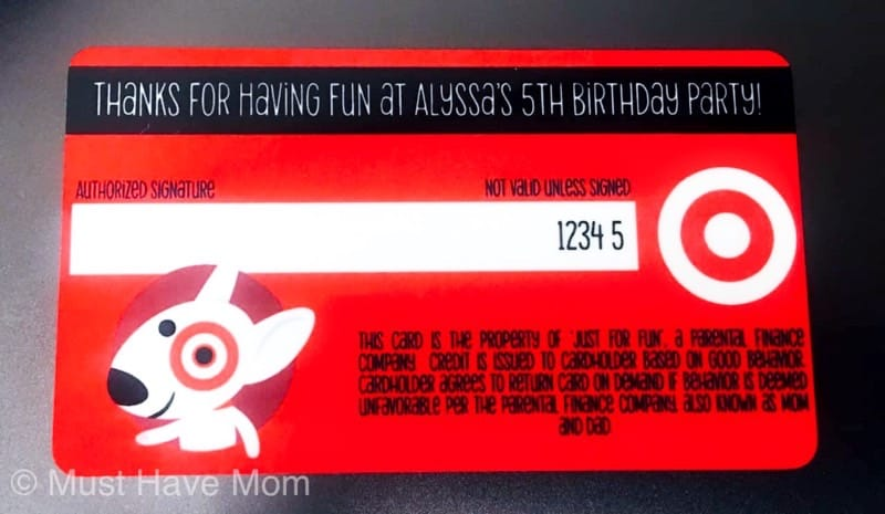 back of pretend target redcard