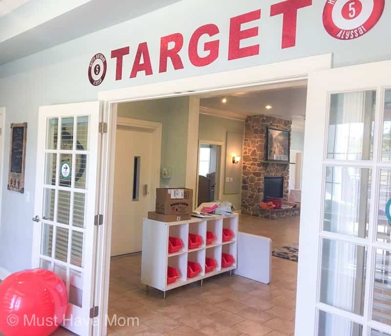 target birthday party entrance
