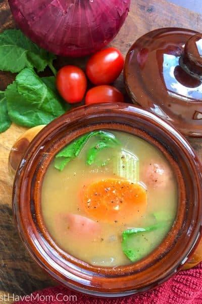 instant pot vegetable soup with fresh vegetables